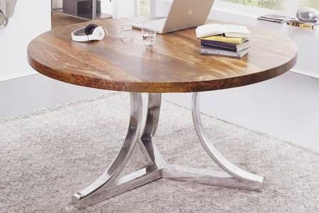 круглые столы из дерева для дома