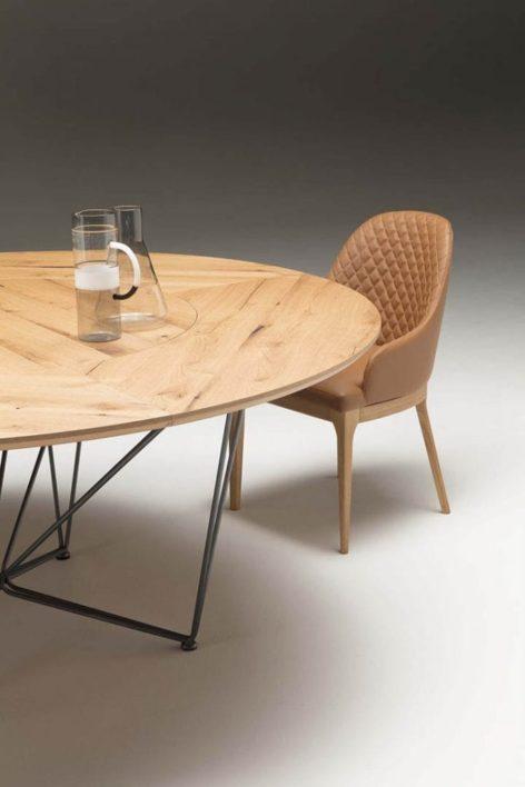 большой обеденный круглый стол