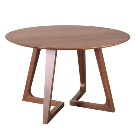 деревянный круглый стол на кухню