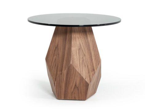деревянный стол кофейный со стеклом