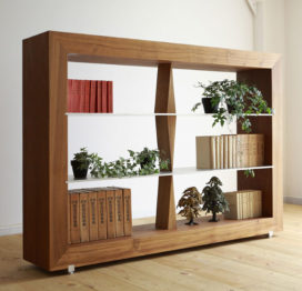 книжный деревянный стеллаж