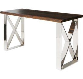 консольный стол из дерева орех