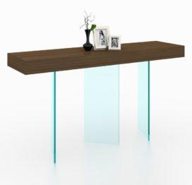 консольный стол со стеклом