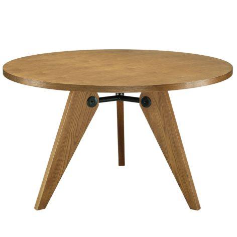 круглый стол из спила дерева