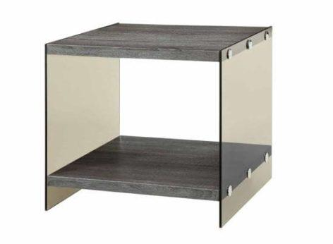 маленький журнальный столик из стекла