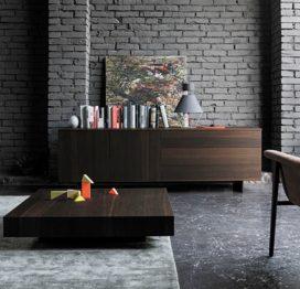 низкий кофейный стол из дерева