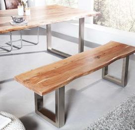 обеденный стол и скамейка в стиле лофт
