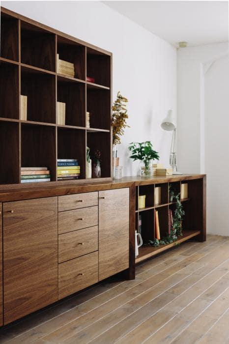 шкаф с полками для книг