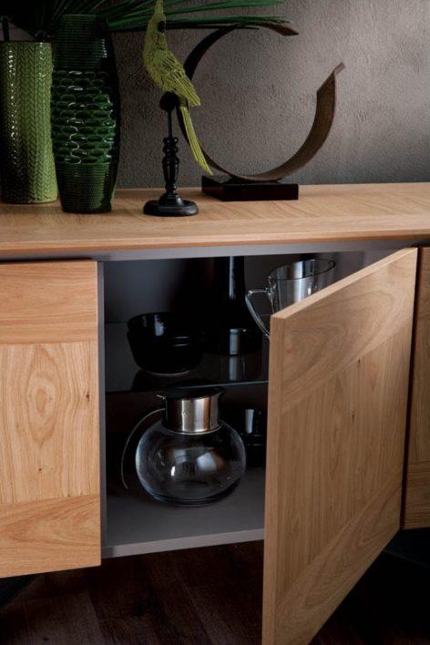 современный деревянный комод для гостиной