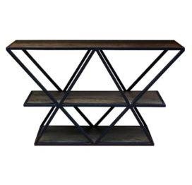 стильный деревянный стеллаж