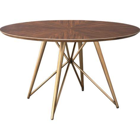 стильный круглый стол из дерева