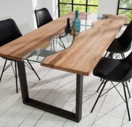 стол река из дерева