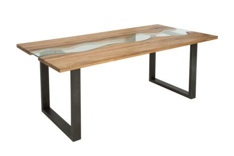 стол река из массива дерева