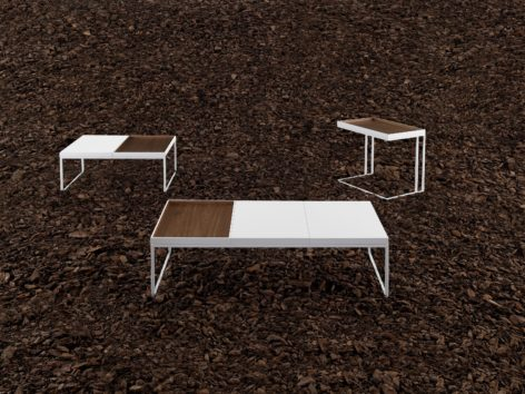 белый кофейный стол с подносом