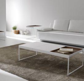 белый стол кофейный