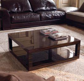 деревянный стол для гостиной
