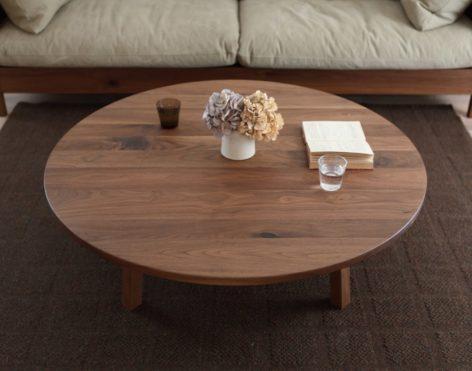 деревянный стол кофейный круглый
