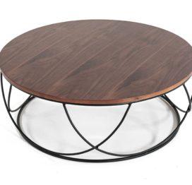 кофейный стол из дерева круглый