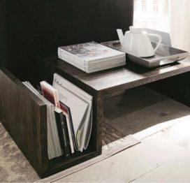 кофейный стол с полкой