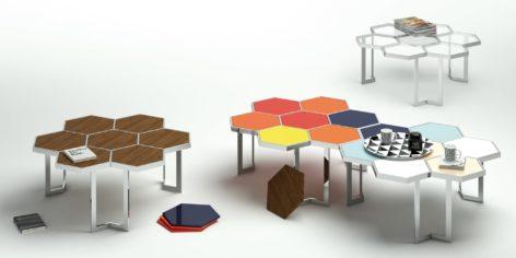 кофейный стол в виде сот