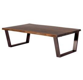 кофейный столик из металла и дерева