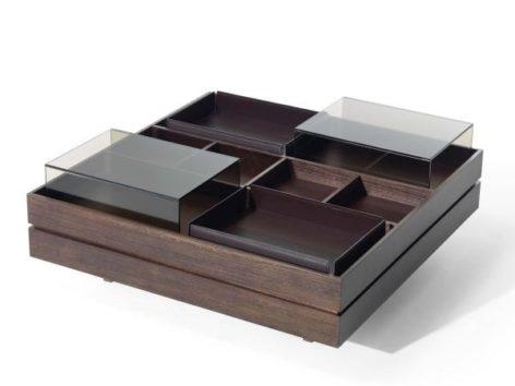кофейный столик квадратный со стеклом