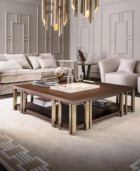 кофейный столик в стиле арт деко
