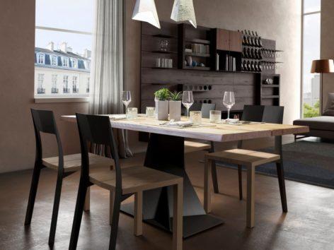 обеденный стол дял кухни на ножке