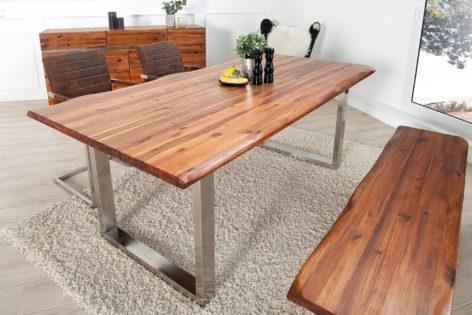 обеденный стол со скамейкой