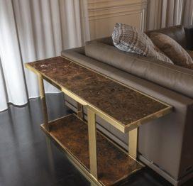 прикроватный столик консоль из дуба