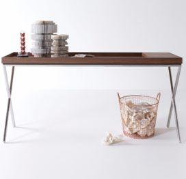 современный узкий стол