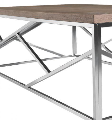 стальное подножье кофейного стола