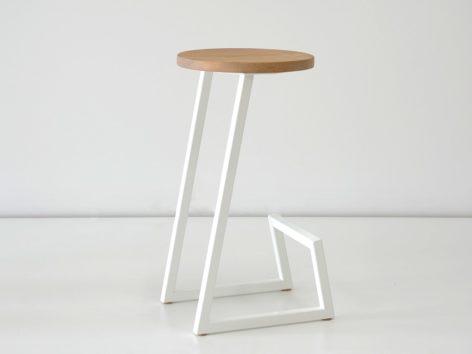 стальной белый стул лофт