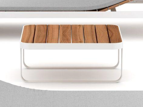 стильный белый кофейный столик