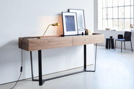 стол консольный из дерева