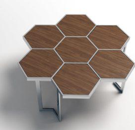 светлый кофейный стол дизайнерский