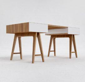 светлый письменный стол