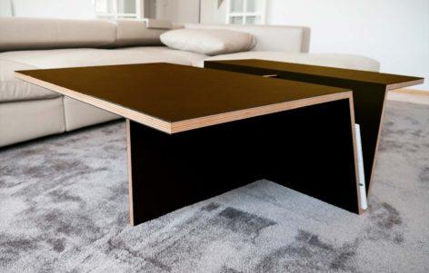темный кофейный стол