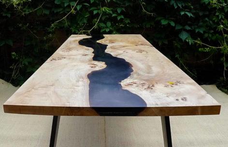 эксклюзивный стол из слэбов тополя