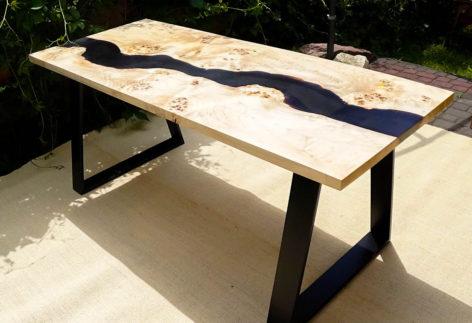 стильный стол лофт из слэба