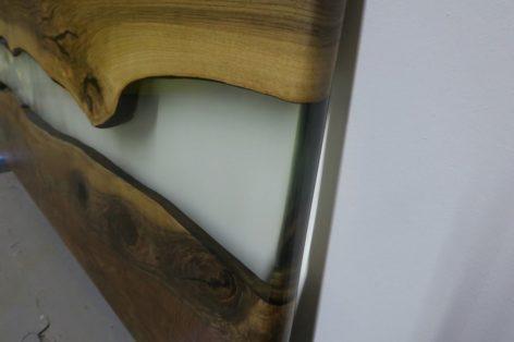 стол в стиле лофт из слэбов
